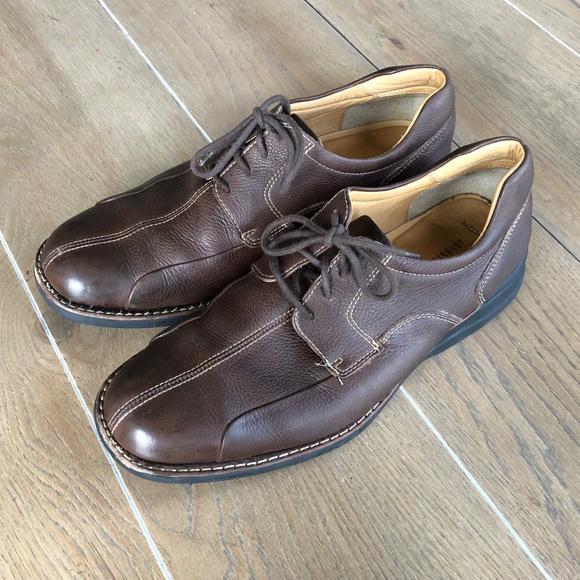 0c96a0b32e0d2 J&M Brown Sheep Skin Leather Brown Derby Shoe